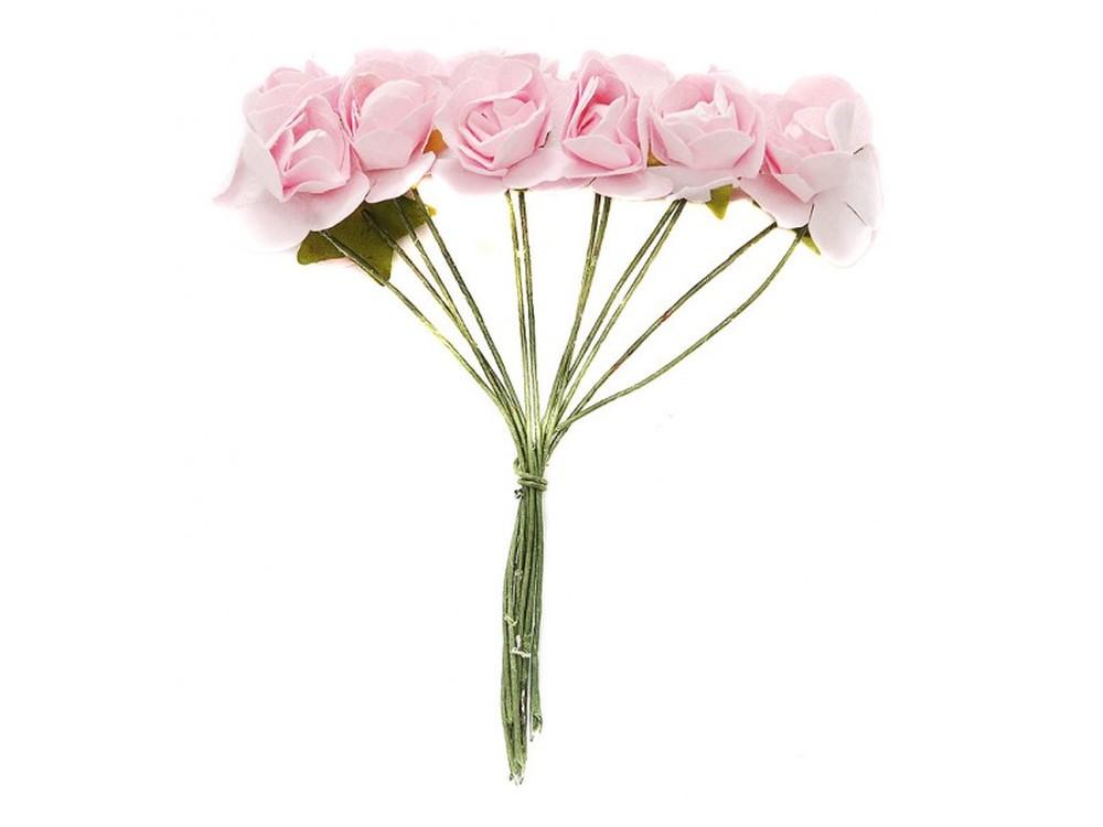 Набор цветов «Бегония светло-розовая»Бумага и материалы для скрапбукинга<br><br><br>Артикул: 4516-SB<br>Размер: (бутона) 2 см<br>Количество: 48 шт.<br>Материал: Бумага, проволока