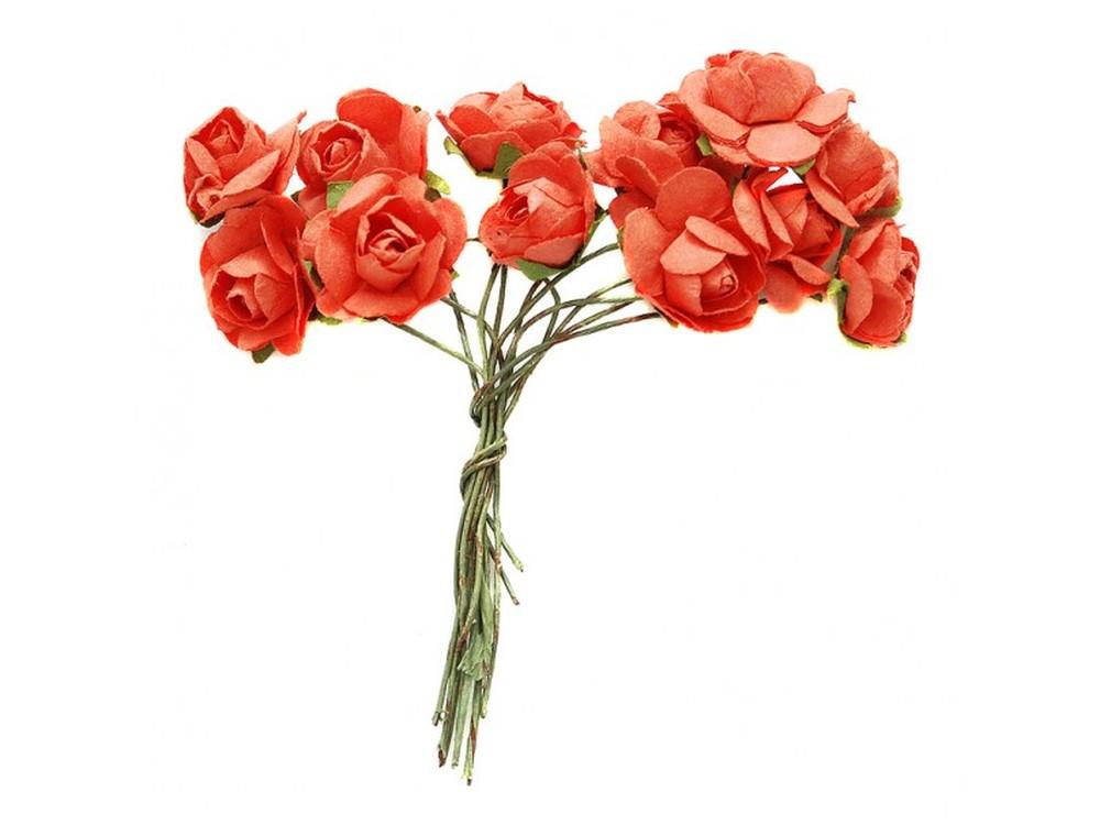 Набор цветов «Бегония красная»Бумага и материалы для скрапбукинга<br><br><br>Артикул: 4517-SB<br>Размер: (бутона) 2 см<br>Количество: 48 шт.<br>Материал: Бумага, проволока