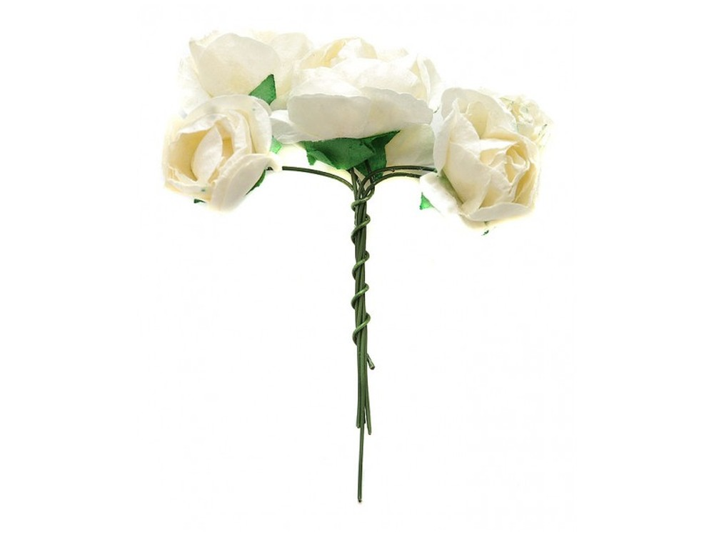 Набор цветов «Азалия белая»Бумага и материалы для скрапбукинга<br><br><br>Артикул: 4518-SB<br>Размер: (бутона) 2,5-3 см<br>Количество: 12 шт.<br>Материал: Бумага, проволока