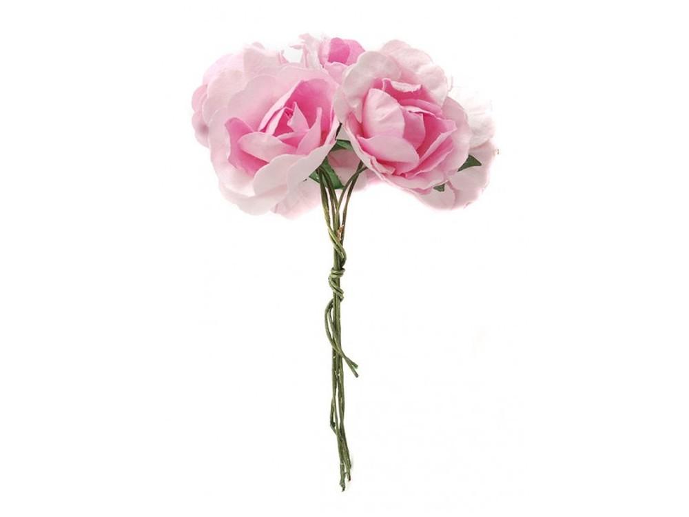 Набор цветов «Азалия розовая»Бумага и материалы для скрапбукинга<br><br><br>Артикул: 4519-SB<br>Размер: (бутона) 2,5-3 см<br>Количество: 12 шт.<br>Материал: Бумага, проволока