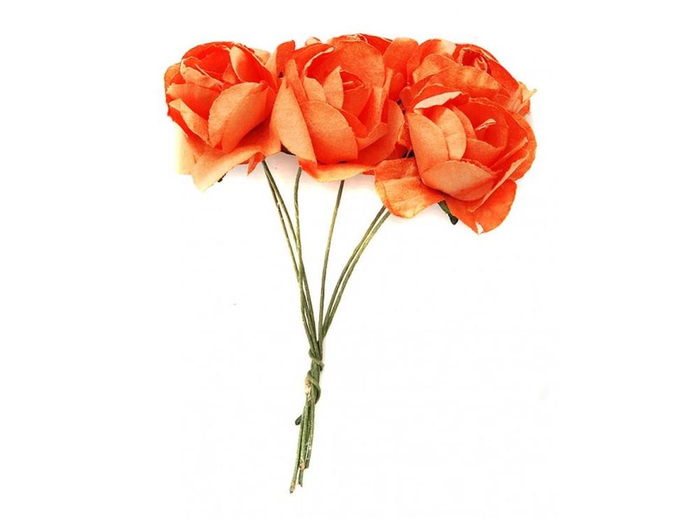 Набор цветов «Азалия коралловая»Бумага и материалы для скрапбукинга<br><br><br>Артикул: 4522-SB<br>Размер: (бутона) 2,5-3 см<br>Количество: 12 шт.<br>Материал: Бумага, проволока