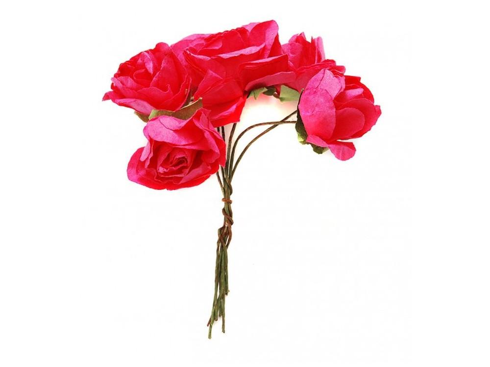 Набор цветов «Азалия малиновая»Бумага и материалы для скрапбукинга<br><br><br>Артикул: 4523-SB<br>Размер: (бутона) 2,5-3 см<br>Количество: 12 шт.<br>Материал: Бумага, проволока