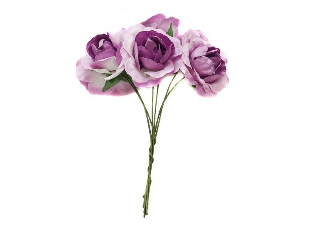 Набор цветов «Азалия темно-фиолетовая»Бумага и материалы для скрапбукинга<br><br><br>Артикул: 4524-SB<br>Размер: (бутона) 2,5-3 см<br>Количество: 12 шт.<br>Материал: Бумага, проволока