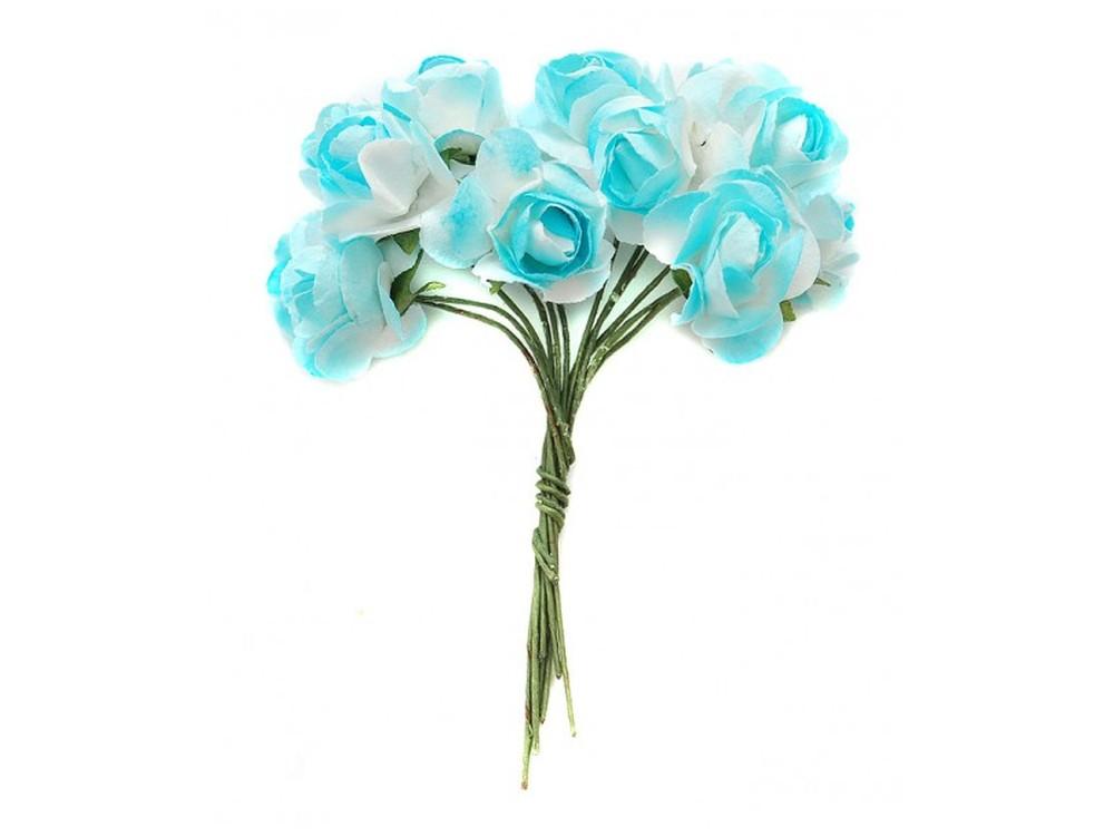 Набор цветов «Гардения голубая»Бумага и материалы для скрапбукинга<br><br><br>Артикул: 4530-SB<br>Размер: (бутона) 1,5 см<br>Количество: 48 шт.<br>Материал: Бумага, проволока