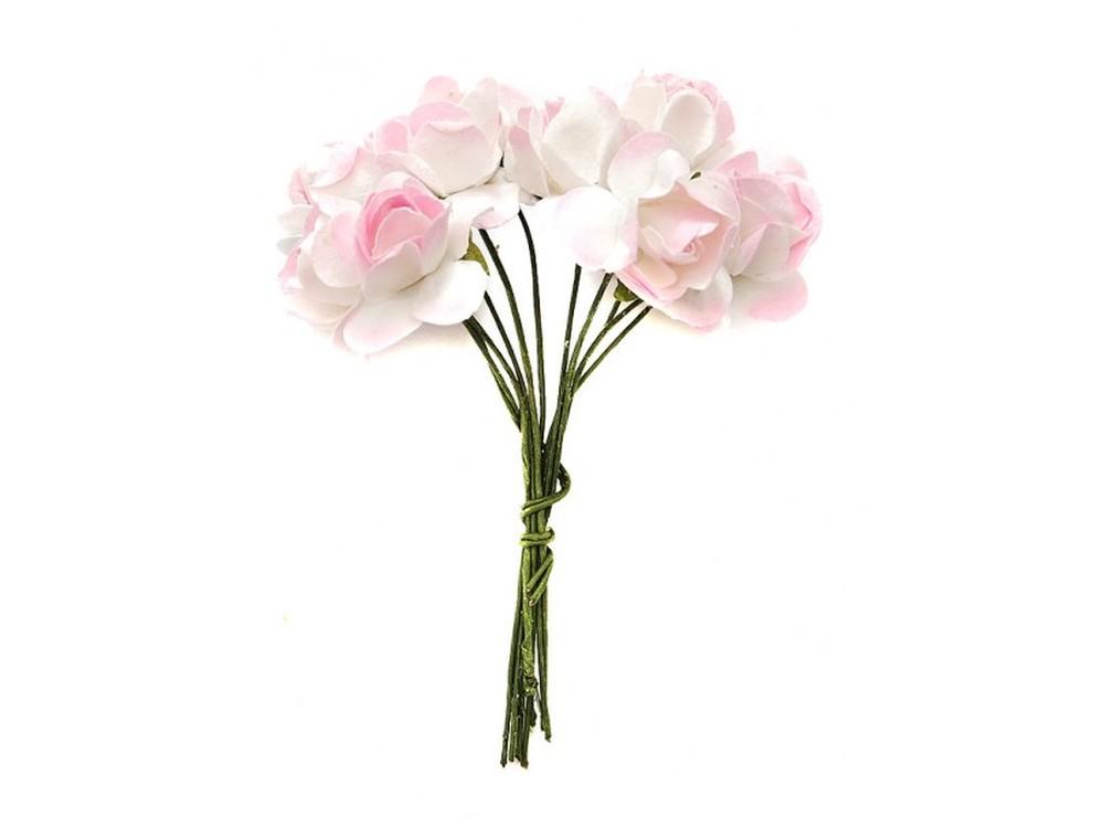Набор цветов «Гардения светло-розовая»Бумага и материалы для скрапбукинга<br><br><br>Артикул: 4531-SB<br>Размер: (бутона) 1,5 см<br>Количество: 48 шт.<br>Материал: Бумага, проволока