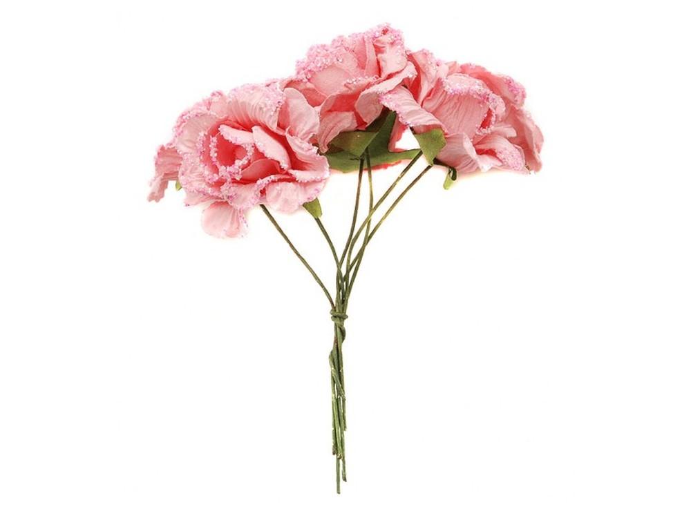 Набор цветов «Камелия розовая»Бумага и материалы для скрапбукинга<br><br><br>Артикул: 4535-SB<br>Размер: (бутона) 2,5-3 см<br>Количество: 12 шт.<br>Материал: Бумага, проволока