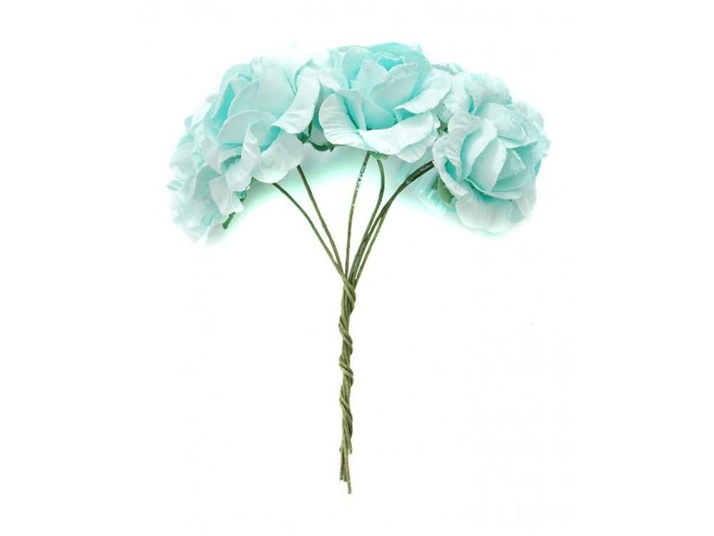 Набор цветов «Камелия голубая»Бумага и материалы для скрапбукинга<br><br><br>Артикул: 4536-SB<br>Размер: (бутона) 2,5-3 см<br>Количество: 12 шт.<br>Материал: Бумага, проволока
