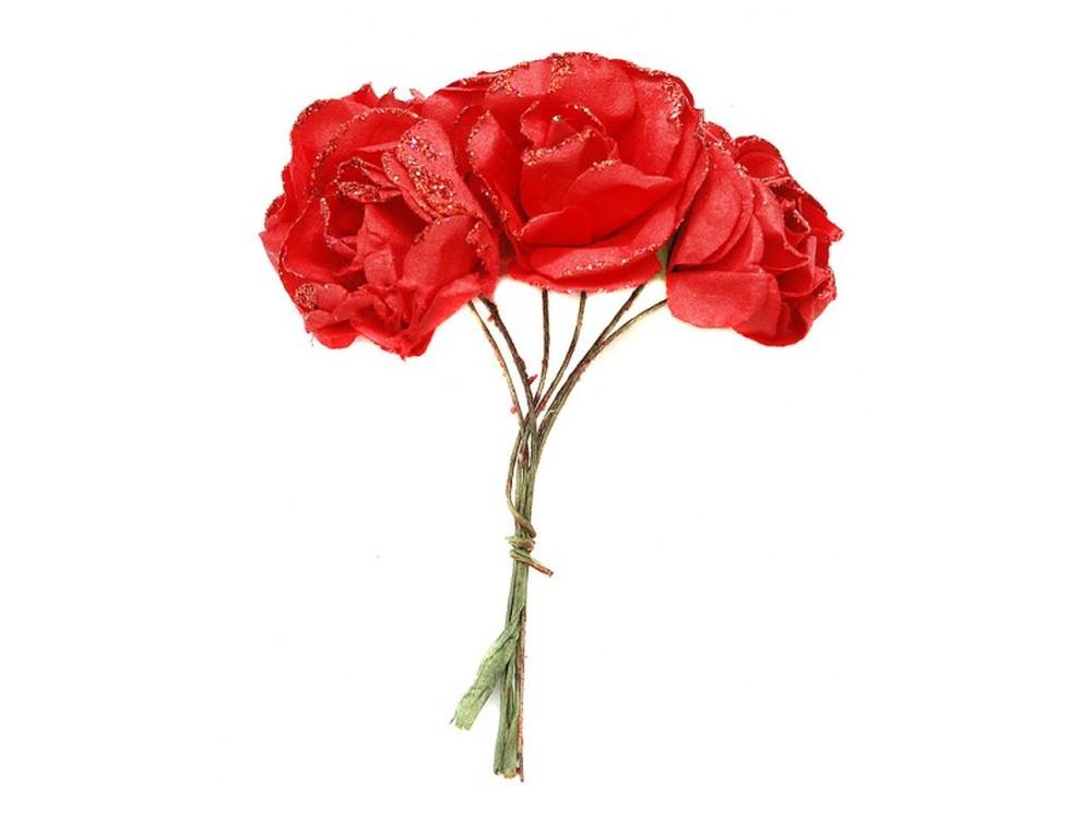 Набор цветов «Гибискус красный»Бумага и материалы для скрапбукинга<br><br><br>Артикул: 4545-SB<br>Размер: (бутона) 2,5-3 см<br>Количество: 12 шт.<br>Материал: Бумага, проволока