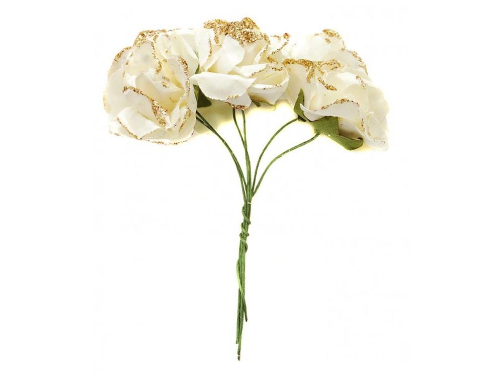 Набор цветов «Гибискус белый»Бумага и материалы для скрапбукинга<br><br><br>Артикул: 4547-SB<br>Размер: (бутона) 2,5-3 см<br>Количество: 12 шт.<br>Материал: Бумага, проволока