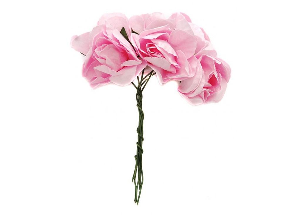Набор цветов «Бальзамин розовый»Бумага и материалы для скрапбукинга<br><br><br>Артикул: 4550-SB<br>Размер: (бутона) 3-3,5 см<br>Количество: 12 шт.<br>Материал: Бумага, проволока