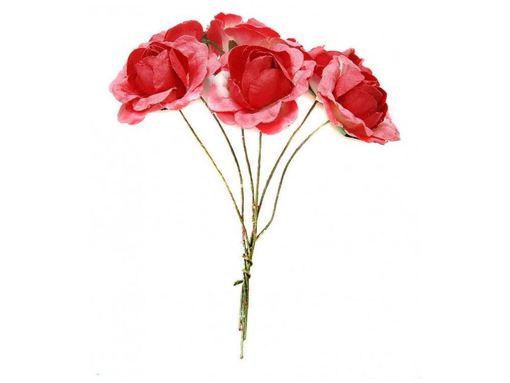 Набор цветов «Бальзамин красный»Бумага и материалы для скрапбукинга<br><br><br>Артикул: 4551-SB<br>Размер: (бутона) 3-3,5 см<br>Количество: 12 шт.<br>Материал: Бумага, проволока