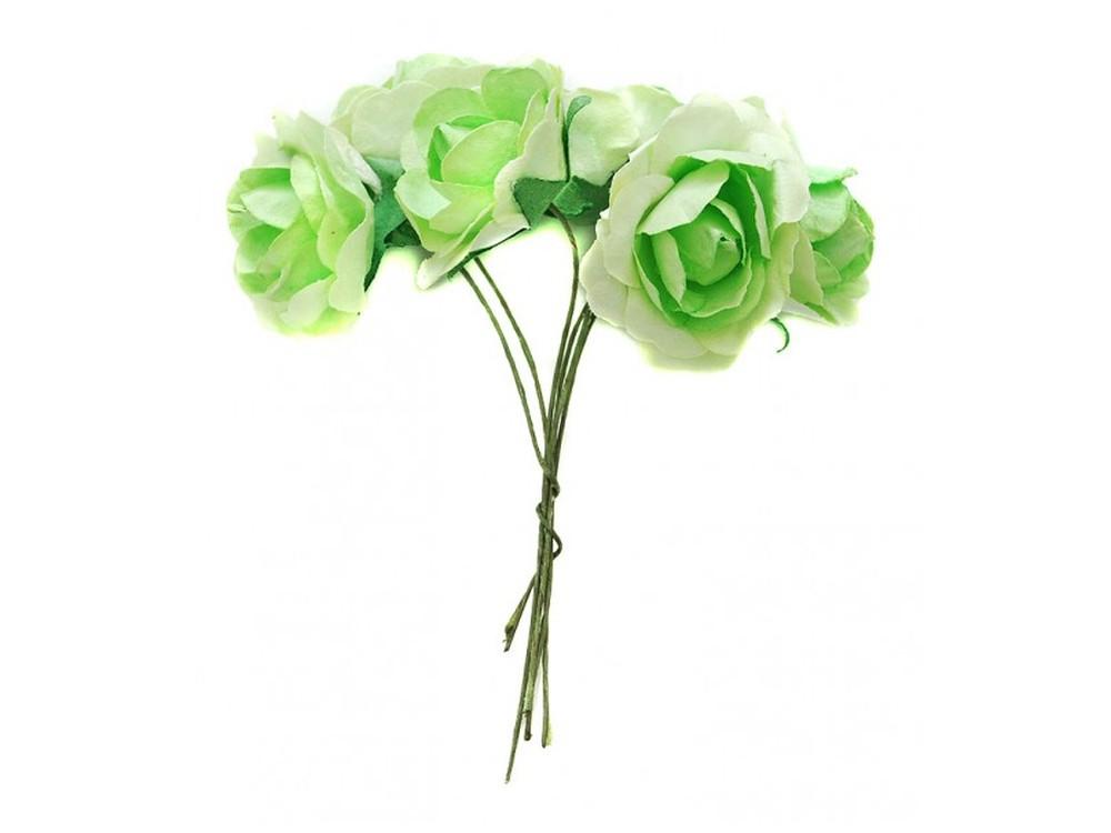 Набор цветов «Бальзамин светло-зеленый»Бумага и материалы для скрапбукинга<br><br><br>Артикул: 4552-SB<br>Размер: (бутона) 3-3,5 см<br>Количество: 12 шт.<br>Материал: Бумага, проволока