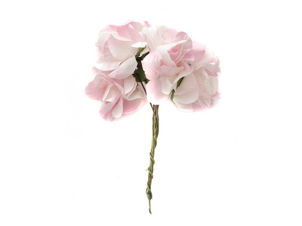 Набор цветов «Магнолия розовая»Бумага и материалы для скрапбукинга<br><br><br>Артикул: 4560-SB<br>Размер: (бутона) 2,5-3 см<br>Количество: 12 шт.<br>Материал: Бумага, проволока