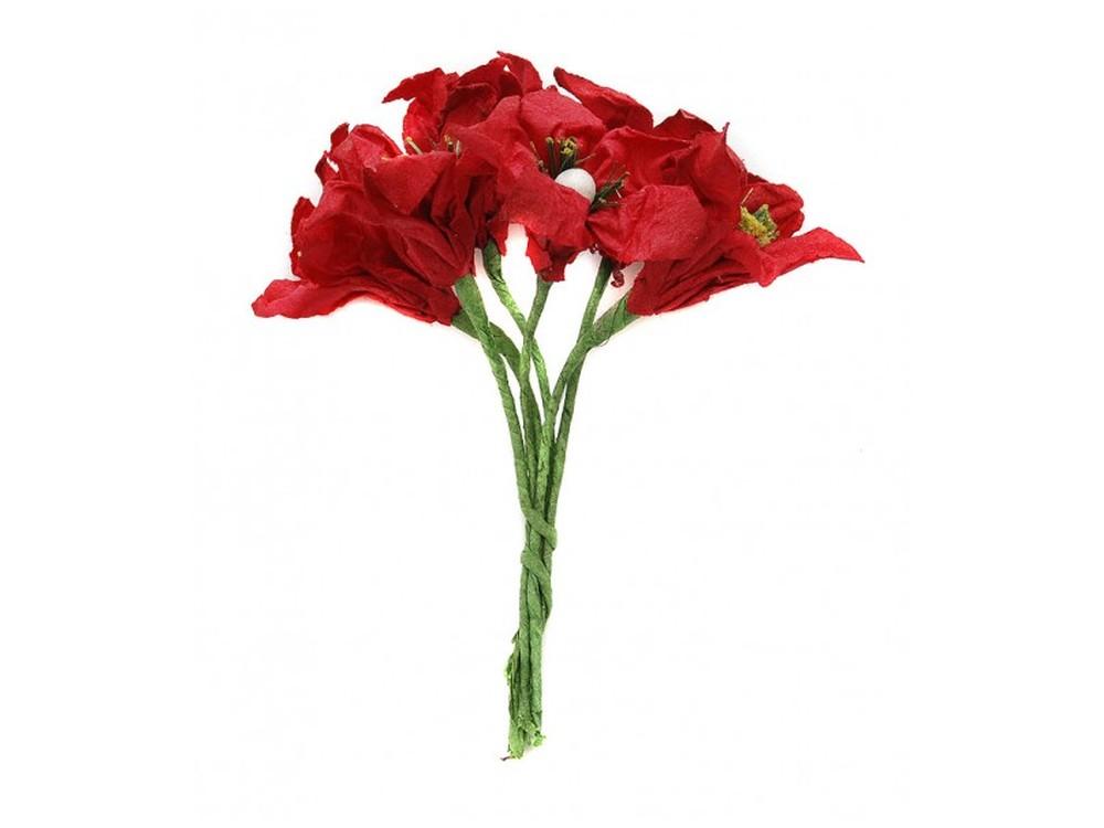 Набор цветов «Лилия красная»Бумага и материалы для скрапбукинга<br><br><br>Артикул: 4565-SB<br>Размер: (бутона) 2,5 см<br>Количество: 12 шт.<br>Материал: Бумага, проволока