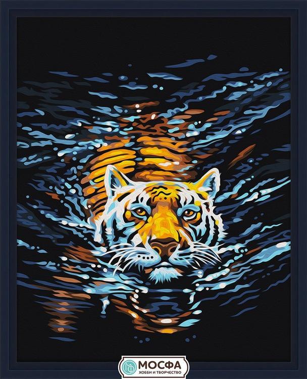 Картина по номерам «Плывущий тигр»Раскраски по номерам Мосфа<br>Бренд Мосфа - это новый российский производитель картин по номерам, яркие сюжеты и качество комплектующих премиум-класса.<br><br><br>Особенности наборов<br><br>акриловые краски безопасны для здоровья и окружающей среды, упакованы в специальные вакуумные пакетики, ...<br><br>Артикул: 7C-0014<br>Основа: Холст<br>Сложность: легкие<br>Размер: 40x50 см<br>Количество цветов: 13<br>Техника рисования: Без смешивания красок