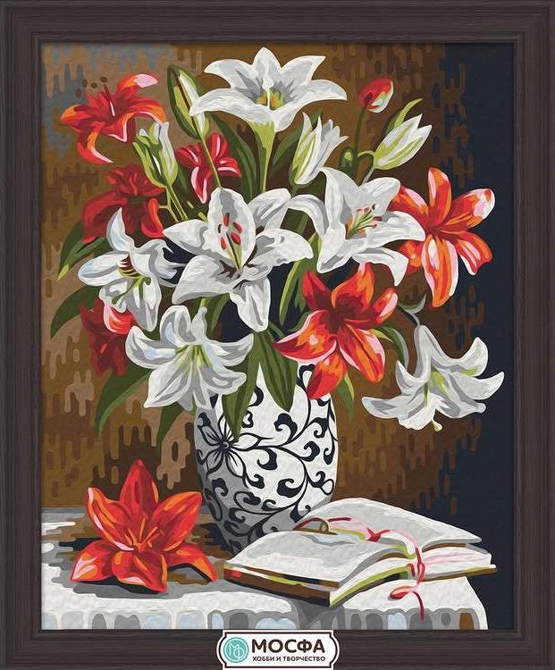 Картина по номерам «Красно-белые лилии» Ольги ВоробьевойРаскраски по номерам Мосфа<br>Бренд Мосфа - это новый российский производитель картин по номерам, яркие сюжеты и качество комплектующих премиум-класса.<br><br><br>Особенности наборов<br><br>акриловые краски безопасны для здоровья и окружающей среды, упакованы в специальные вакуумные пакетики, ...<br><br>Артикул: 7C-0015<br>Основа: Холст<br>Сложность: легкие<br>Размер: 40x50 см<br>Количество цветов: 21<br>Техника рисования: Без смешивания красок