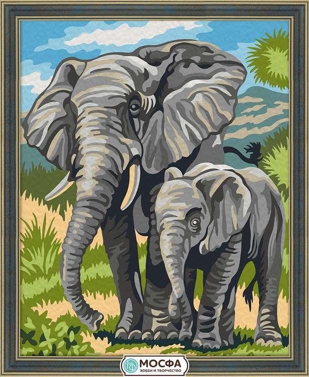 Картина по номерам «Слоны»Раскраски по номерам Мосфа<br>Бренд Мосфа - это новый российский производитель картин по номерам, яркие сюжеты и качество комплектующих премиум-класса.<br><br><br>Особенности наборов<br><br>акриловые краски безопасны для здоровья и окружающей среды, упакованы в специальные вакуумные пакетики, ...<br><br>Артикул: 7C-0065<br>Основа: Холст<br>Сложность: очень легкие<br>Размер: 40x50 см<br>Количество цветов: 17<br>Техника рисования: Без смешивания красок