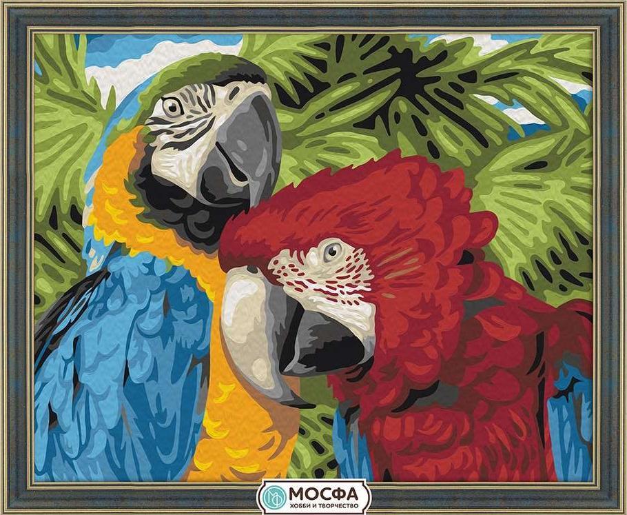 Картина по номерам «Пара попугаев»Раскраски по номерам Мосфа<br>Бренд Мосфа - это новый российский производитель картин по номерам, яркие сюжеты и качество комплектующих премиум-класса.<br><br><br>Особенности наборов<br><br>акриловые краски безопасны для здоровья и окружающей среды, упакованы в специальные вакуумные пакетики, ...<br><br>Артикул: 7C-0097<br>Основа: Холст<br>Сложность: легкие<br>Размер: 40x50 см<br>Количество цветов: 19<br>Техника рисования: Без смешивания красок
