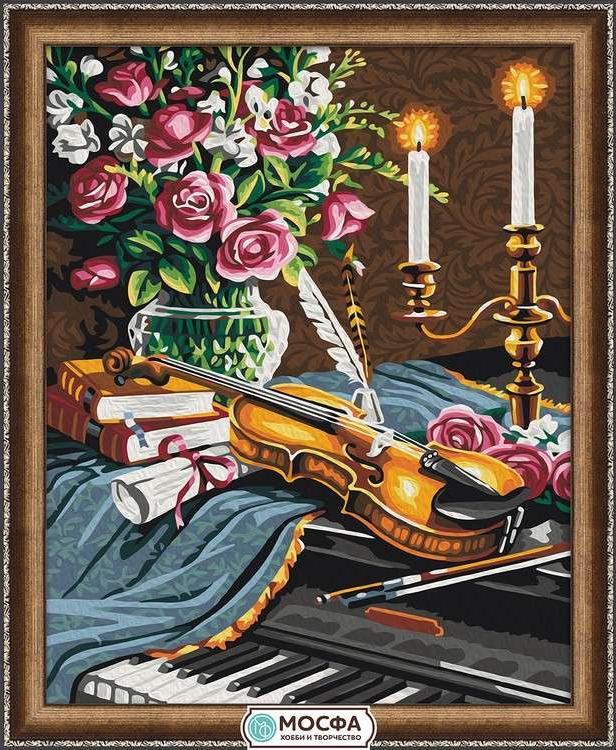 Картина по номерам «Романс»Раскраски по номерам Мосфа<br>Бренд Мосфа - это новый российский производитель картин по номерам, яркие сюжеты и качество комплектующих премиум-класса.<br><br><br>Особенности наборов<br><br>акриловые краски безопасны для здоровья и окружающей среды, упакованы в специальные вакуумные пакетики, ...<br>
