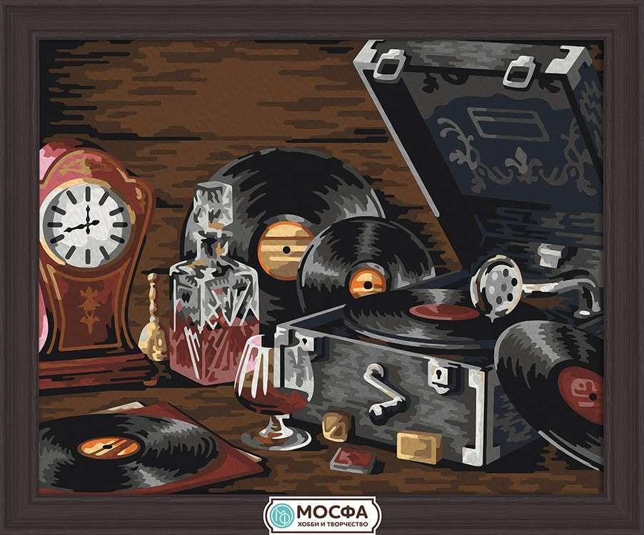 Картина по номерам «Любимые пластинки»Раскраски по номерам Мосфа<br>Бренд Мосфа - это новый российский производитель картин по номерам, яркие сюжеты и качество комплектующих премиум-класса.<br><br><br>Особенности наборов<br><br>акриловые краски безопасны для здоровья и окружающей среды, упакованы в специальные вакуумные пакетики, ...<br><br>Артикул: 7C-0145<br>Основа: Холст<br>Сложность: легкие<br>Размер: 40x50 см<br>Количество цветов: 22<br>Техника рисования: Без смешивания красок
