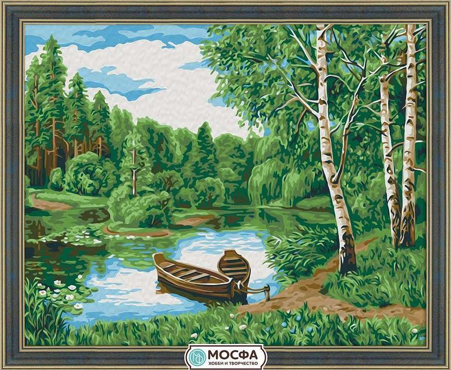 Картина по номерам «Тихая заводь»Раскраски по номерам<br>Бренд Мосфа - это новый российский производитель картин по номерам, яркие сюжеты и качество комплектующих премиум-класса.<br><br><br>Особенности наборов<br><br>акриловые краски безопасны для здоровья и окружающей среды, упакованы в специальные вакуумные пакетики, ...<br>