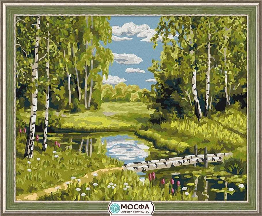 Картина по номерам «Березовый мостик»Раскраски по номерам Мосфа<br>Бренд Мосфа - это новый российский производитель картин по номерам, яркие сюжеты и качество комплектующих премиум-класса.<br><br><br>Особенности наборов<br><br>акриловые краски безопасны для здоровья и окружающей среды, упакованы в специальные вакуумные пакетики, ...<br><br>Артикул: 7C-0189<br>Основа: Холст<br>Сложность: очень сложные<br>Размер: 40x50 см<br>Количество цветов: 22<br>Техника рисования: Без смешивания красок