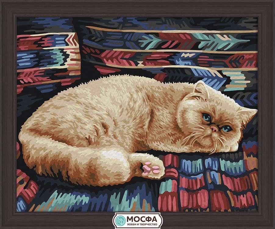 Картина по номерам «Персидский кот»Раскраски по номерам Мосфа<br>Бренд Мосфа - это новый российский производитель картин по номерам, яркие сюжеты и качество комплектующих премиум-класса.<br><br><br>Особенности наборов<br><br>акриловые краски безопасны для здоровья и окружающей среды, упакованы в специальные вакуумные пакетики, ...<br><br>Артикул: 7C-0200<br>Основа: Холст<br>Сложность: легкие<br>Размер: 40x50 см<br>Количество цветов: 20<br>Техника рисования: Без смешивания красок