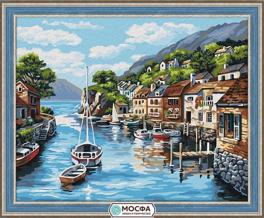 Картина по номерам «Лодки у причала»Раскраски по номерам Мосфа<br>Бренд Мосфа - это новый российский производитель картин по номерам, яркие сюжеты и качество комплектующих премиум-класса.<br><br><br>Особенности наборов<br><br>акриловые краски безопасны для здоровья и окружающей среды, упакованы в специальные вакуумные пакетики, ...<br><br>Артикул: 7C-0203<br>Основа: Холст<br>Сложность: средние<br>Размер: 40x50 см<br>Количество цветов: 27<br>Техника рисования: Без смешивания красок