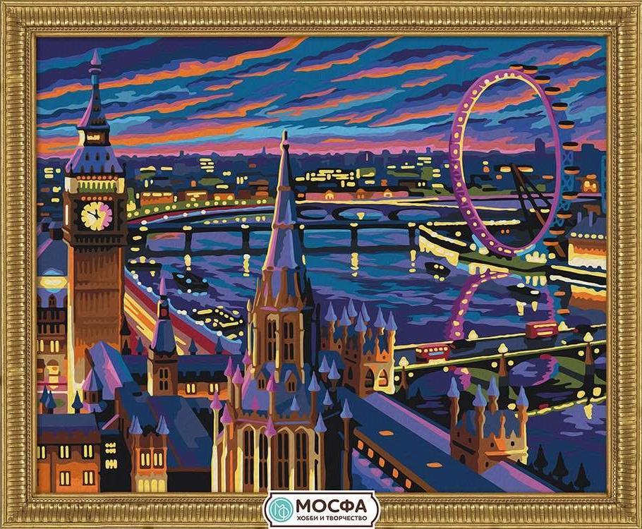 Картина по номерам «Ночной Лондон»Раскраски по номерам Мосфа<br>Бренд Мосфа - это новый российский производитель картин по номерам, яркие сюжеты и качество комплектующих премиум-класса.<br><br><br>Особенности наборов<br><br>акриловые краски безопасны для здоровья и окружающей среды, упакованы в специальные вакуумные пакетики, ...<br><br>Артикул: 7C-0204<br>Основа: Холст<br>Сложность: сложные<br>Размер: 40x50 см<br>Количество цветов: 28<br>Техника рисования: Без смешивания красок