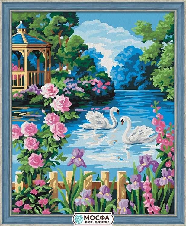 Картина по номерам «Беседка у озера»Раскраски по номерам Мосфа<br>Бренд Мосфа - это новый российский производитель картин по номерам, яркие сюжеты и качество комплектующих премиум-класса.<br><br><br>Особенности наборов<br><br>акриловые краски безопасны для здоровья и окружающей среды, упакованы в специальные вакуумные пакетики, ...<br><br>Артикул: 7C-0217<br>Основа: Холст<br>Сложность: средние<br>Размер: 40x50 см<br>Количество цветов: 26<br>Техника рисования: Без смешивания красок