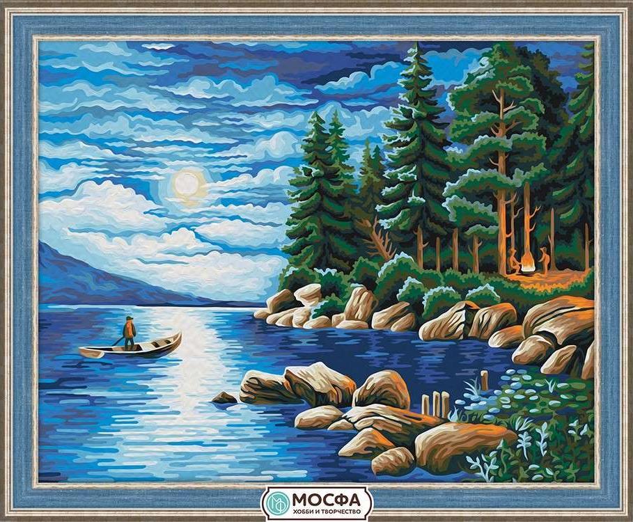 Картина по номерам «Ночь в лесу»Раскраски по номерам Мосфа<br>Бренд Мосфа - это новый российский производитель картин по номерам, яркие сюжеты и качество комплектующих премиум-класса.<br><br><br>Особенности наборов<br><br>акриловые краски безопасны для здоровья и окружающей среды, упакованы в специальные вакуумные пакетики, ...<br>