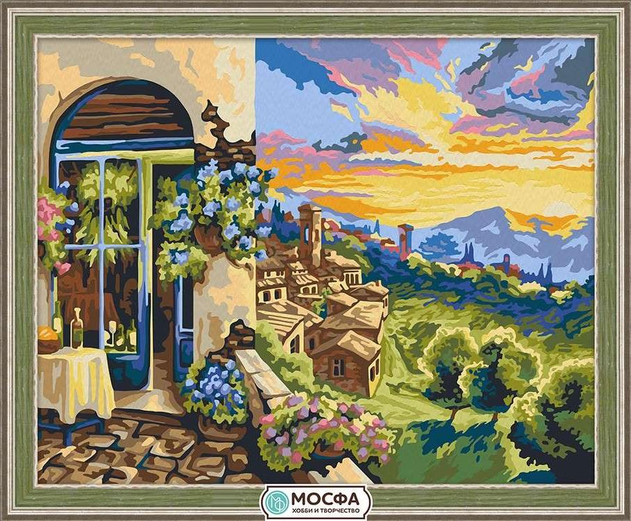 Картина по номерам «Яркий закат»Раскраски по номерам Мосфа<br>Бренд Мосфа - это новый российский производитель картин по номерам, яркие сюжеты и качество комплектующих премиум-класса.<br><br><br>Особенности наборов<br><br>акриловые краски безопасны для здоровья и окружающей среды, упакованы в специальные вакуумные пакетики, ...<br><br>Артикул: 7C-0223<br>Основа: Холст<br>Сложность: средние<br>Размер: 40x50 см<br>Количество цветов: 28<br>Техника рисования: Без смешивания красок