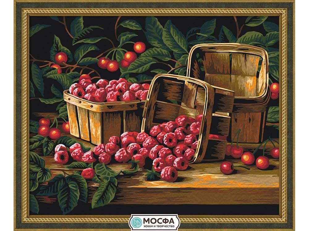 Картина по номерам «Урожай малины»Раскраски по номерам Мосфа<br>Бренд Мосфа - это новый российский производитель картин по номерам, яркие сюжеты и качество комплектующих премиум-класса.<br><br><br>Особенности наборов<br><br>акриловые краски безопасны для здоровья и окружающей среды, упакованы в специальные вакуумные пакетики, ...<br><br>Артикул: 7C-0231<br>Основа: Холст<br>Сложность: средние<br>Размер: 40x50 см<br>Количество цветов: 21<br>Техника рисования: Без смешивания красок