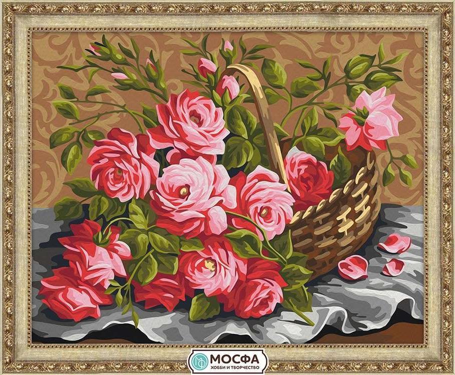 Картина по номерам «Розы из сада»Раскраски по номерам Мосфа<br>Бренд Мосфа - это новый российский производитель картин по номерам, яркие сюжеты и качество комплектующих премиум-класса.<br><br><br>Особенности наборов<br><br>акриловые краски безопасны для здоровья и окружающей среды, упакованы в специальные вакуумные пакетики, ...<br><br>Артикул: 7C-0243<br>Основа: Холст<br>Сложность: средние<br>Размер: 40x50 см<br>Количество цветов: 25<br>Техника рисования: Без смешивания красок