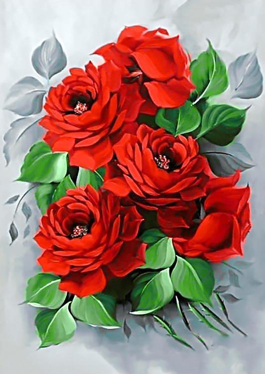 Алмазная вышивка «Изысканные розы»Алмазная вышивка<br><br>