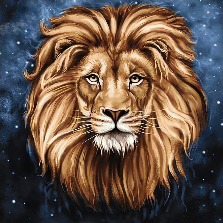 Алмазная вышивка «Созвездие льва»Алмазная вышивка Гранни<br><br><br>Артикул: Ag587<br>Основа: Холст без подрамника<br>Сложность: сложные<br>Размер: 38x38 см<br>Выкладка: Полная<br>Количество цветов: 33<br>Тип страз: Квадратные