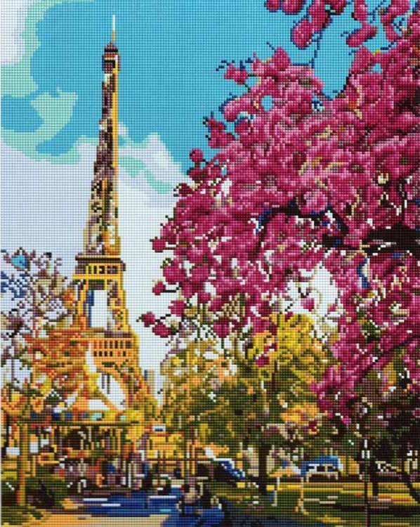 Алмазная вышивка «Летний Париж»Алмазная вышивка Painting Diamond<br><br><br>Артикул: GF1488<br>Основа: Холст на подрамнике<br>Сложность: сложные<br>Размер: 40x50 см<br>Выкладка: Полная<br>Количество цветов: 24<br>Тип страз: Квадратные