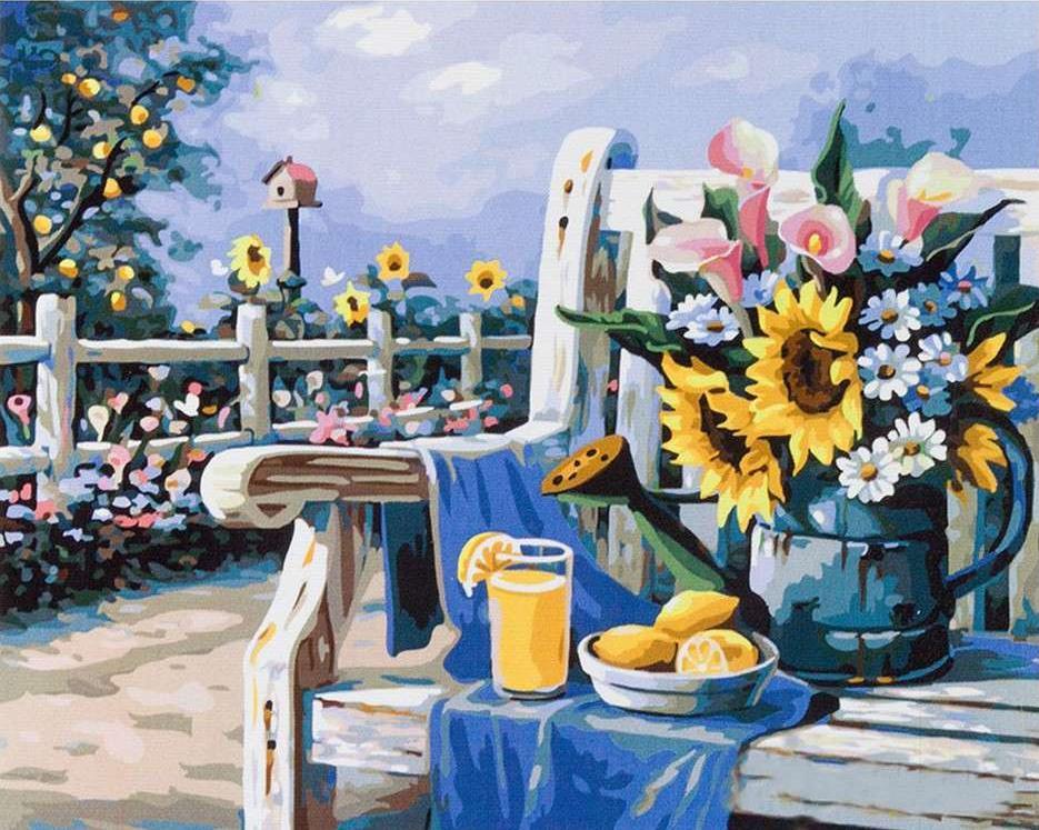 Картина по номерам «Ласковое лето» Сен КимаPaintboy (Premium)<br><br><br>Артикул: GX4660<br>Основа: Холст<br>Сложность: сложные<br>Размер: 40x50 см<br>Количество цветов: 32<br>Техника рисования: Без смешивания красок