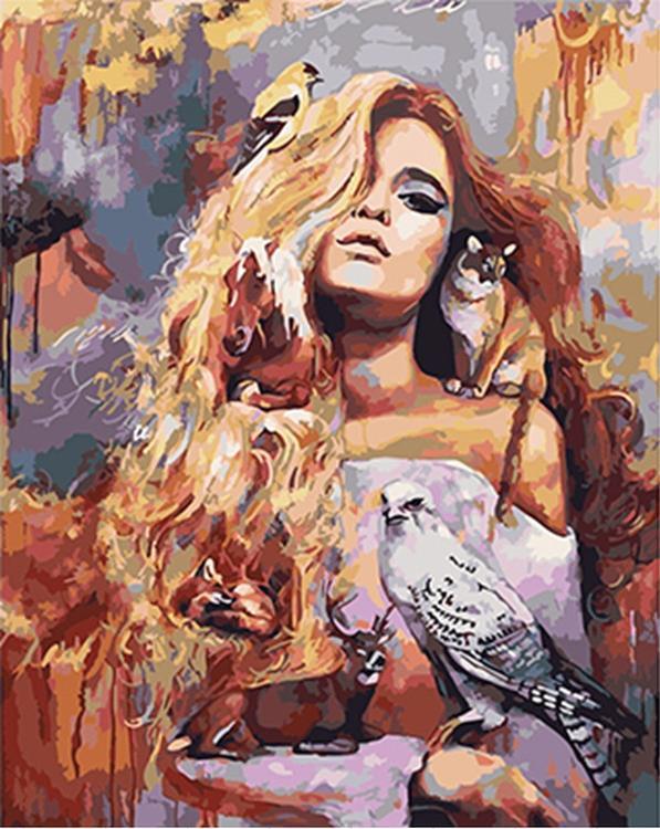 Картина по номерам «Богиня Фауна» Димитры МиланPaintboy (Premium)<br><br><br>Артикул: GX4912<br>Основа: Холст<br>Сложность: средние<br>Размер: 40x50 см<br>Количество цветов: 27<br>Техника рисования: Без смешивания красок