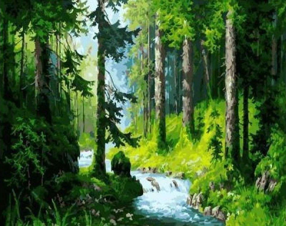 Картина по номерам «Лесной ручей»Paintboy (Premium)<br><br><br>Артикул: GX5665<br>Основа: Холст<br>Сложность: сложные<br>Размер: 40x50 см<br>Количество цветов: 22<br>Техника рисования: Без смешивания красок