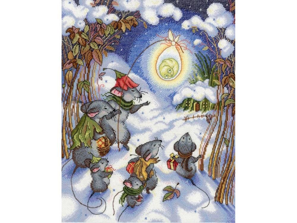 Набор для вышивания «В канун Рождества»Вышивка крестом МП-студия<br><br><br>Артикул: НВ-644<br>Основа: канва Aida 18<br>Размер: 30x25 см<br>Техника вышивки: счетный крест<br>Тип схемы вышивки: Цветная схема<br>Цвет канвы: Белый<br>Количество цветов: 27<br>Рисунок на канве: не нанесён<br>Техника: Вышивка крестом