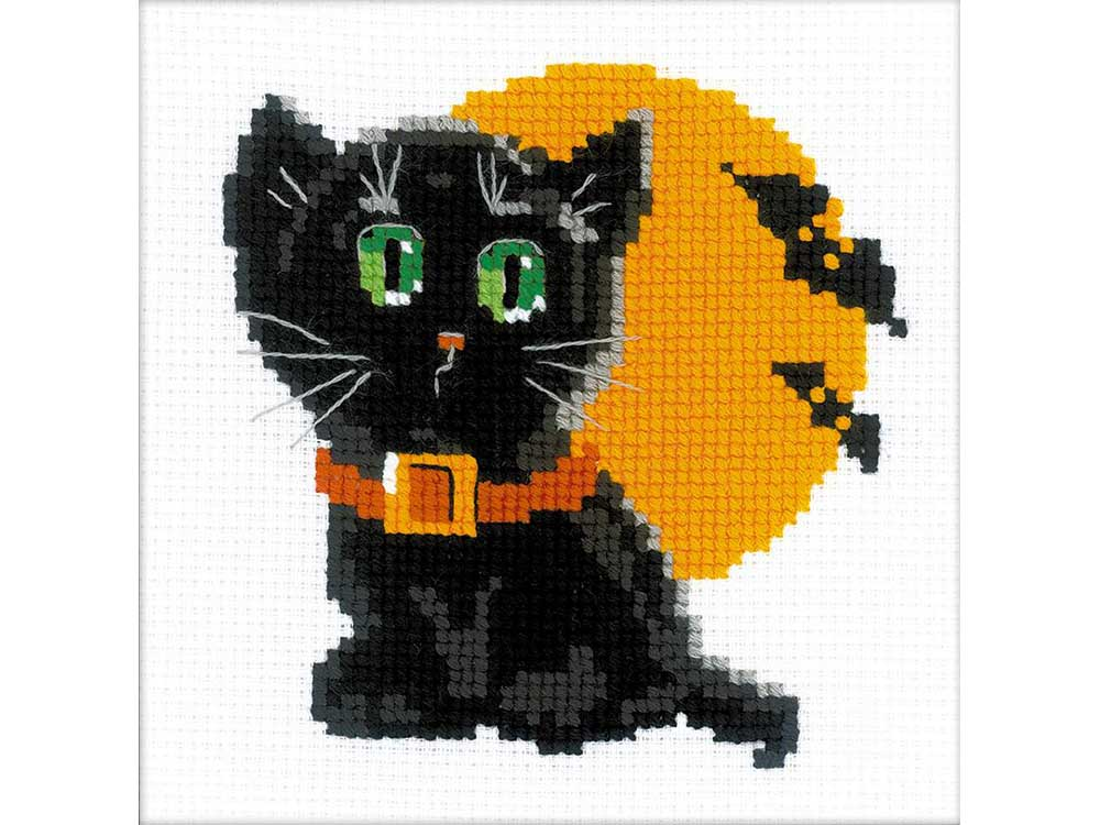 Набор для вышивания «Черный кот»Вышивка крестом Риолис<br><br><br>Артикул: НВ175<br>Основа: канва 10 Aida Zweigart<br>Размер: 15x15 см<br>Техника вышивки: счетный крест<br>Серия: Риолис (Веселая пчелка)<br>Тип схемы вышивки: Цветная схема<br>Цвет канвы: Белый<br>Количество цветов: 8<br>Художник, дизайнер: Анна Король<br>Заполнение: Частичное<br>Игла: 1 вид<br>Рисунок на канве: не нанесён<br>Техника: Вышивка крестом<br>Нитки: шерсть/акрил Safil