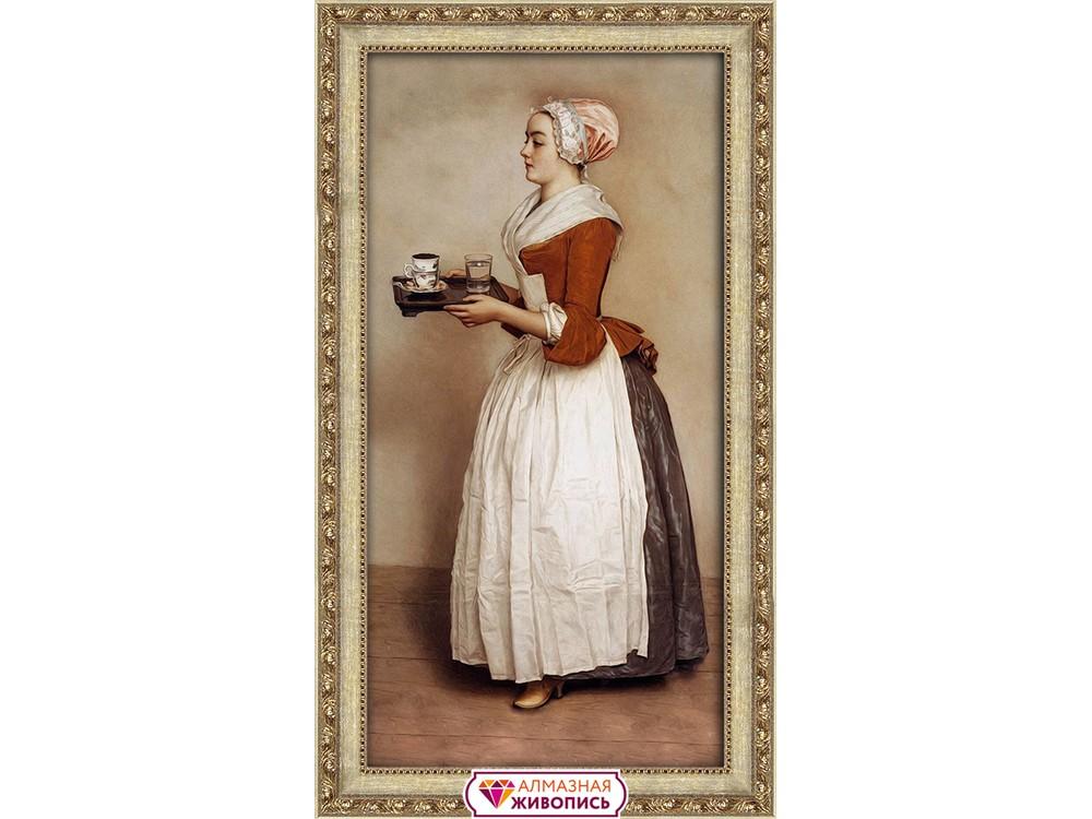 Алмазная вышивка «Прекрасная шоколадница» Жана Этьена Лиотара