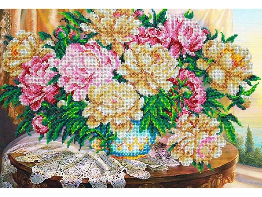 Набор вышивки бисером «Пионы в закате»Вышивка бисером<br><br>