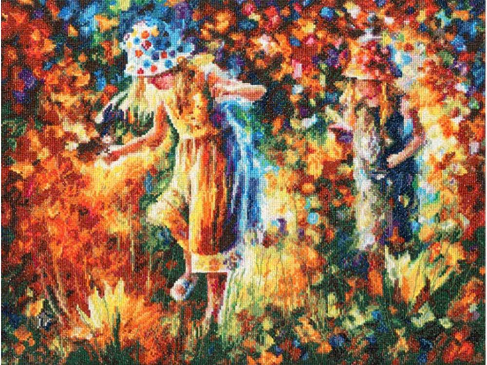 Набор для вышивания «Две сестры» по мотивам картины Леонида АфремоваВышивка крестом Золотое Руно<br><br><br>Артикул: ЧМ-057<br>Основа: канва Aida 18 Zweigart<br>Размер: 27,5x36,5 см<br>Техника вышивки: счетный крест<br>Тип схемы вышивки: Черно-белая схема<br>Цвет канвы: Белый<br>Количество цветов: 48<br>Заполнение: Полное<br>Рисунок на канве: не нанесён<br>Техника: Вышивка крестом