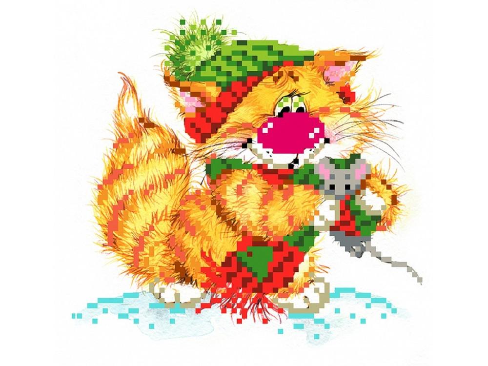 Набор вышивки бисером «Без кота - жизнь не та! Вместе теплее»