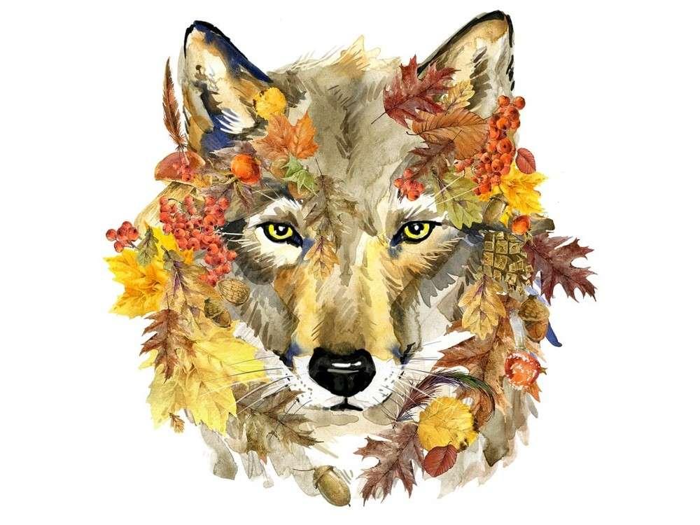 Набор вышивки бисером «Осенний волк»Вышивка бисером Матренин Посад<br><br><br>Артикул: 0135/Б<br>Основа: шелк<br>Размер: 28x34 см<br>Техника вышивки: бисер<br>Тип схемы вышивки: Цветная схема<br>Размер вышитой работы: 23x24 см<br>Количество цветов: 20<br>Заполнение: Частичное<br>Рисунок на канве: нанесён рисунок и схема<br>Техника: Вышивка бисером