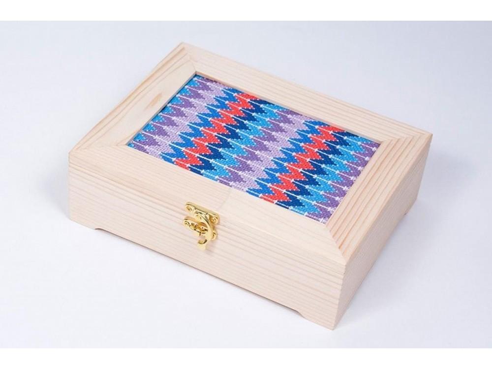 Набор для вышивания «Узоры барджелло»Вышивка крестом Матренин Посад<br><br><br>Артикул: 12004<br>Основа: канва Aida 14<br>Размер: 18x13 см<br>Техника вышивки: счетный крест<br>Тип схемы вышивки: Цветная схема<br>Размер вышитой работы: 22x17x6,5 см<br>Количество цветов: 6<br>Заполнение: Полное<br>Рисунок на канве: нанесён рисунок и схема<br>Техника: Вышивка крестом<br>Нитки: мулине 100% хлопок