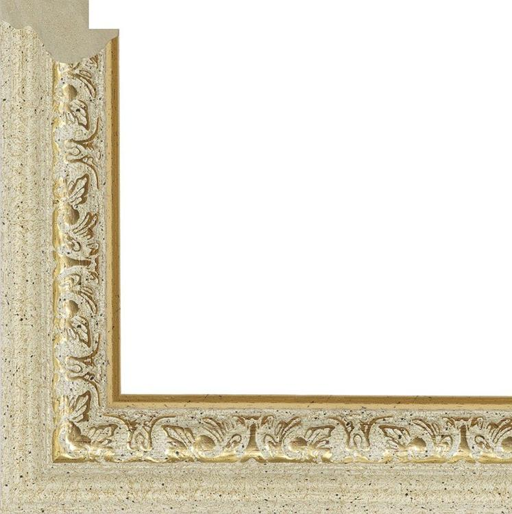 Рама без стекла для картин «Budda»Багетные рамки<br>Багетная рамка без стекла для картин на холсте на подрамнике, картоне, алмазной вышивки или фото.<br> <br> Комплектация:<br>  <br>- багетная рамка;<br> - задняя подложка из плотного картона;<br> - фурнитура для крепления.<br> <br> Каждая картина по номерам должна быть за...<br><br>Артикул: 4050/72<br>Размер: 40x50 см<br>Цвет: Слоновая кость с золотым орнаментом<br>Ширина: 33<br>Материал багета: Пластик<br>Глубина багета: 9 мм