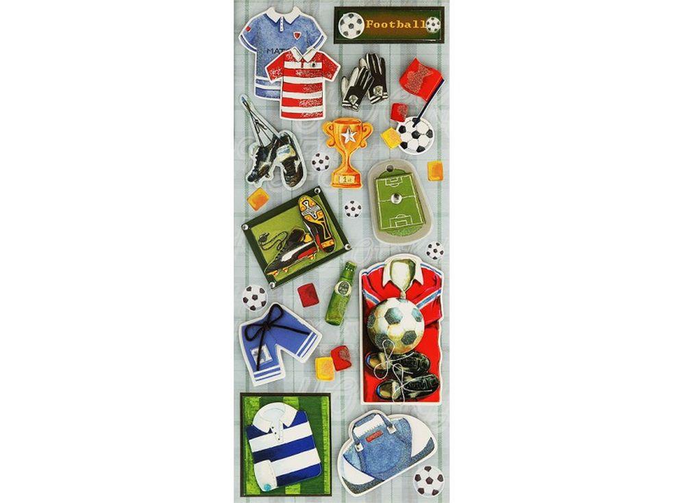 3D-cтикеры «Все о футболе»Бумага и материалы для скрапбукинга<br><br>